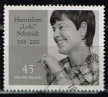 Bund 2019,Michel# 3448 O 100. Geburtstag Von Hannelore Schmidt - Gebraucht