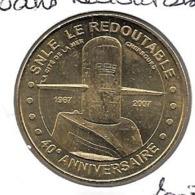 Jeton Touristique 50 Cherbourg Redoutable 40 Ans 2007 - Monnaie De Paris
