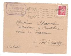 DOCUMENT Commercial ENVELOPPE 1941..Chaussures, L. FICHEPOIL Rue Paul Poirier à GRANVILLE (Manche 50)...Recto Seul - Francia