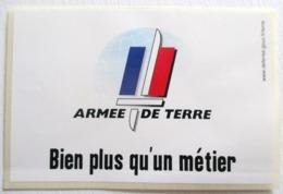 AUTO COLLANT ARMEE DE TERRE BIEN PLUS QU UN METIER BLEU BLANC ROUGE - Army & War