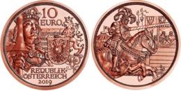 """AUSTRIA  10€ 2.019  2019  COBRE """"Cuentos De Caballeros""""  SC/UNC    T-DL-12.305 - Oostenrijk"""