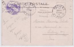 CP - OBL. Méc. - BEZIERS / 14 SEPT. 14 - Marcophilie (Lettres)