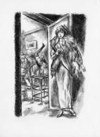 Beau Dessin Femme Surprend Son Mari En Charmante Compagnie. - Dibujos