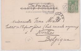 CP - OBL. Méc. - PARIS EXPO / 25 OCT. 1900 - Marcophilie (Lettres)