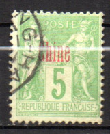 Col17  Colonie Chine N° 3 Oblitéré Shang Hai Cote 60,00€ - Chine (1894-1922)