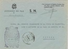 34230. Carta S.N. Franquicia Juzgado De Paz TORRENT (Gerona) 1959. Fechador Torrent - 1931-Hoy: 2ª República - ... Juan Carlos I