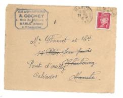 DOCUMENT Commercial ENVELOPPE 1941..Chaussures A. COCHET, Rue Sionier à MARLE ( Aisne 02)...Recto Seul - Frankrijk