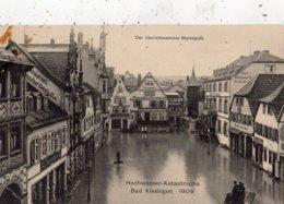HOCHWASSER-KATASTROPHE BAD KISSINGEN 1909 DER UBERSCHWEMMTE MARKTPLATZ - Bad Kissingen