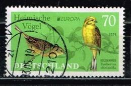 Bund 2019,Michel# 3463 O Europa (C.E.P.T.) 2019 :Heimische Vögel, Goldammer - Gebraucht