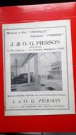 Ancienne Pub Moteurs à Gaz Crossley J. & O.G Pierson Paris, Chez De Dion-Bouton A Puteaux - Advertising