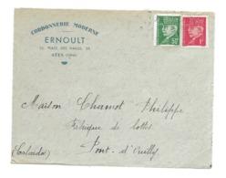 DOCUMENT Commercial ENVELOPPE 1942..Cordonnerie Moderne ERNOULT Place Des Halles à SEES ( Orne 61)...Recto Seul - Frankreich
