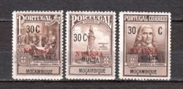 Mocambique Nyassa 1925 Zwangszuschlagsportomarken Mi 1-3 MH - Nyassa