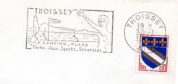 Tourisme, Thoissey, Roseraies - Flamme Secap - Enveloppe Entière (V431) - Autres Collections