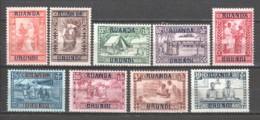 Ruanda Urundi 1930 Mi 34-42 MH - 1924-44: Ungebraucht