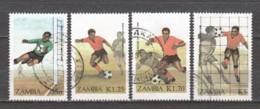 Zambia 1986 Mi 360-363 Canceled SOCCER - Zambie (1965-...)