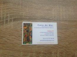 Carte De Visite De Restaurant  Coco De Mer   Paris 5eme - Cartes De Visite
