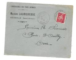 DOCUMENT Commercial ENVELOPPE 1942..Chaussures Maison LAURICHESSE à DOUDEVILLE ( 76)...Recto Seul - Frankrijk