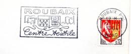 Industrie, Roubaix, Textile, Blasons - Flamme Secap - Enveloppe Entière (V433) - Autres Collections