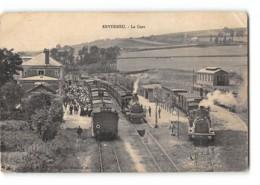 CPA 76 Envermeu La Gare Et Le Train Tramway - Envermeu