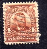 USA STATI UNITI 1902 1903  PRESIDENTS GRANT PRESIDENT CENT. 4c USED USATO OBLITERE - United States