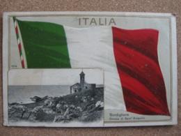 Italian Flag + Cheisa Di Sant Ampelio, Bordighera, Liguria, Italy - Posted 1909 - Other Cities