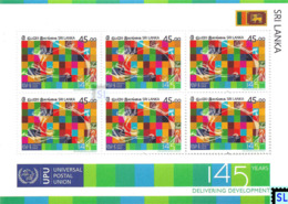 Sri Lanka Stamps 2019, Universal Postal Union, UPU, Mini-sheet - Sri Lanka (Ceylon) (1948-...)