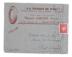 DOCUMENT Commercial ENVELOPPE 1941..La Maison Du Pneu Edmond AMIOT, Rue Couraye GRANVILLE ( Manche 50) ...Recto Seul - Francia
