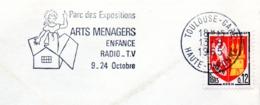 Exposition, Arts Ménagers, Enfance, Toulouse - Flamme Secap - Enveloppe Entière (V435) - Autres Collections