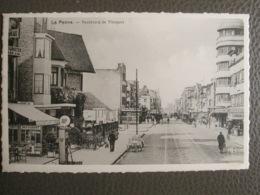 Cpa La Panne - De Panne - Boulevard De Nieuport - Pompe Essence BP - Arfo Bruxelles - De Panne