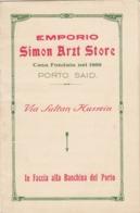 "9575-EMPORIO ""SIMON ARZT STORE"" - PORTO SAID(EGITTO) - Publicités"