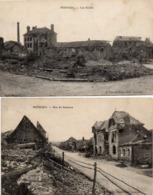 MOREUIL - Les Ecoles - Rue De Santerre - En Ruines Après La Grande Guerre - Moreuil
