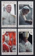 Vatikan MiNr. 1827/30 ** Beginn Des Dritten Pontifikatsjahres V Papst Franziskus - Vatikan