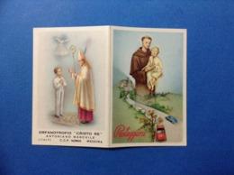 Calendarietto 1961 Santino Holy Card Image Pieuse S Antonio Orfanotrofio Cristo Re Messina - Santini