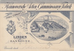 9576-HANNOVERSCHE ACTIEN GUMMIVAAREN-FABRIK-LINDEN VOP HANNOVER-FABBRICA DI GOMMA - Werbung