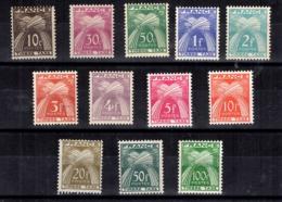 France Timbres Taxe YT N° 78/89 Neufs ** MNH. TB. A Saisir! - 1859-1955.. Ungebraucht