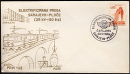 Yugoslavia Capljina 1969 / First Train / Electrified Railway Sarajevo - Ploce / Ship, Bridge - Eisenbahnen