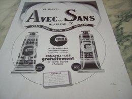 ANCIENNE PUBLICITE AVEC OU SANS BLAIREAU GIBBS 1939 - Perfume & Beauty