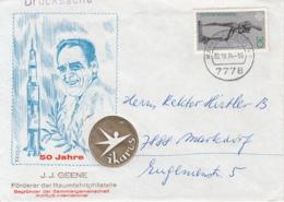 SPACE PHILATELY, J.J. GEENE, IKARUS INTERNATIONAL, SPECIAL COVER, 1974, GERMANY - [7] Federal Republic