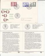 NOBEL PRIZE LAUREATS OF 1915, PERSONALITIES, COVER FDC AND CARD, 1975, SWEDEN - Nobel Prize Laureates