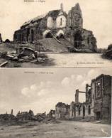 MOREUIL - L'Eglise, L'Hôtel De Ville -  En Ruines Après La Grande Guerre - Moreuil
