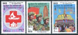 Cambodge  YT 436-438 **  Mi# 534-536 MNH - Cambodge