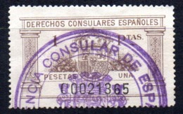 Fiscal Derecho Consular De 1 Pts Marron - Fiscales