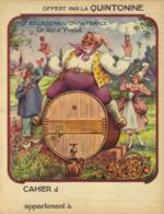 Protège Cahier QUINTONINE - Le Roi D'Yvetot - Alimentaire