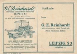 "9577-DITTA ""G.E. REINHARDT""-LEIPZIG S3 - FG - Werbepostkarten"