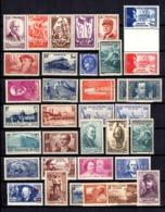 France Belle Collection De Bonnes Valeurs Neufs ** MNH 1936/1943. Gommes D'origine. TB. A Saisir! - Francia