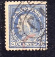 USA STATI UNITI 1912 1914  PRESIDENTS BENJAMIN FRANKLIN PRESIDENT CENT. 20c USED USATO OBLITERE - Etats-Unis
