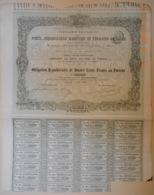 OBLIGATION - Cie PORTS, DEBARCADERE MARITIME Et TERRAINS De CADIX Du 31 Août 1869 - Navigation