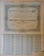 OBLIGATION - Cie PORTS, DEBARCADERE MARITIME Et TERRAINS De CADIX Du 31 Août 1869 - Scheepsverkeer