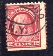 USA STATI UNITI 1912 1914  PRESIDENTS BENJAMIN FRANKLIN PRESIDENT CENT. 12c USED USATO OBLITERE - Estados Unidos