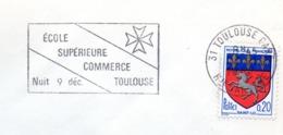 Tourisme, Toulouse, Ecole Commerce, Fête- Flamme Secap - Enveloppe Entière  (V441) - Autres Collections